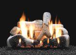 """18"""" Birch Logset with Manual Vented Slope Glaze Burner, NG"""