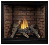 Tahoe Premium 36 Clean Face DV MV Fireplace w/ Logs & AB Liner, LP