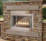 "Outdoor Premium 36 SS Firebox, 24"" Logset and Harmony MV Burners, LP"
