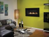 """Boulevard DV Linear Contemporary Fireplace w/ 4"""" Black front, NG"""