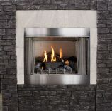 Outdoor Premium 36 Traditional IP Fireplace with Log set, NG