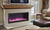 "Deep Indoor/Outdoor Electric Fireplace with Black Steel Surround - 50"""