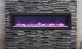 "Deep Indoor/Outdoor Electric Fireplace with Black Steel Surround - 60"""