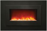 """Electric Fireplace with 40"""" Black Steel Surround and Overlay"""