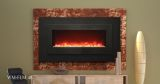 """Electric Fireplace with 48"""" Black Steel Surround and Overlay"""