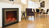 """Zero Clearance Electric Fireplace w/ 45"""" Steel Surround & Overlay"""