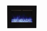 "26"" ZECL Electric Fireplace with Black Glass Surround and Ice Media"