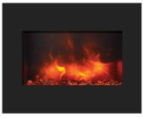 "26"" ZECL FM Electric Fireplace with Black Surround and Ice Media"