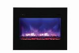 "30"" ZECL FM Electric Fireplace w/ Black Surround and 3 Colors Media"
