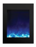 """ZECL Electric Fireplace w/ Black Surround and 3 Colors Media - 29"""""""
