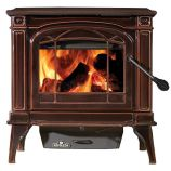 Cast Iron 55K Wood Burning Stove - Painted Black