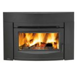 Wood Burning Traditional Front Fireplace Insert - Black