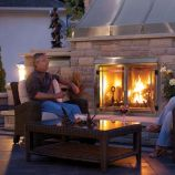 "42"" Outdoor Brushed Stainless Steel Gas Fireplace - Natural Gas"