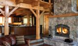 High Country Woodburning Fireplace