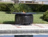 Venza Cast Aluminum Round LPG Fire Pit, 40,000 BTUs, Stainless Steel Burner
