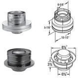 "DirectVent Pro 4"" x 6.62"" Galvanized Chimney Conversion Kit B"