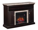 """Brighton TV Stand with 23"""" Electric Fireplace, Coffee Black"""