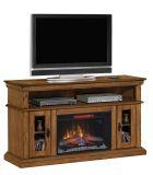 "Brookfield TV Stand w/ 26"" Contemporary Elec. Fireplace, Premium Oak"