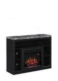 """Adams TV Stand with 23"""" Infrared Quartz Fireplace, Coffee Black"""