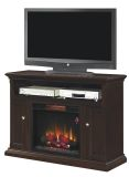 """Cannes TV Stand with 23"""" Infrared Quartz Fireplace, Espresso"""