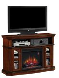 """Aberdeen TV Stand with 23"""" Electric Fireplace, Premium Cocoa"""