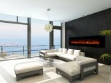 """Ambiance 100"""" Clx2 Electric Fireplace With Black Stainless Front"""