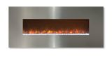"""Ambiance 45"""" Clx2 Electric Fireplace With Stainless Steel Front"""