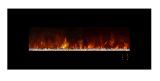 """Ambiance 60"""" Clx Electric Fireplace With Matte Black Metal Front"""