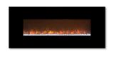 """Ambiance 80"""" Clx Electric Fireplace With Black Stainless Steel Front"""