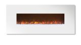 """Ambiance 80"""" Clx Electric Fireplace With Flat White Metal Front"""