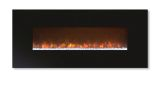 """Ambiance 80"""" Clx Electric Fireplace With Matte Black Metal Front"""