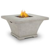 Real Flame Monaco Propane Square Fire Table - Cream