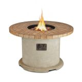 Real Flame Ogden Round Propane Fire Table - Sand