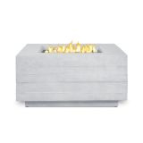 Real Flame Board Form Square Fire Table - Faux Wood