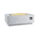 Real Flame Board Form Rectangle Fire Table - Faux Wood