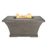 Real Flame Monaco Rectangle Chat LP Fire Table - Glacier Gray