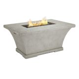 Real Flame Monaco Rectangle Chat LP Fire Table - Cream