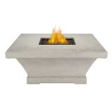 Real Flame Monaco Square Low LP Fire Table - Cream