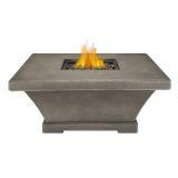 Real Flame Monaco Square Low LP Fire Table - Glacier Gray