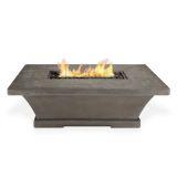 Real Flame Monaco Rectangle Low LP Fire Table - Glacier Gray
