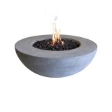 Cast Concrete Lunar Bowl - Liquid Propane