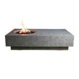 Cast Concrete Metropolis Table Fire Feature- Liquid Propane
