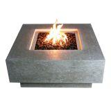 Cast Concrete Manhattan Table Fire Feature- Natural Gas