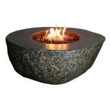 Eco-Stone Burning Rock Table Fire Feature- Natural Gas