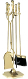 5 Pc. Polished Brass Fireset (F-2191)