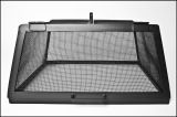 "34"" x 34"" Square 304 Stainless Fire Pit Screen with Hinged Access Door"