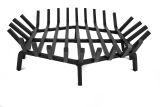 """24"""" Round Carbon Steel Fire Pit Grate with Char Guard Ember Catch"""