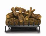 """20"""" Premium Single Master Flame Sand NG Burner with Red Oak Log Set"""