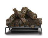 """24"""" Elite Triple NG Burner w/ Aged Oak Log Set & Safety Pilot"""
