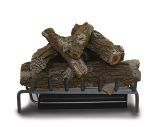 "24"" Elite Triple LP Burner w/ Aged Oak Log Set & Safety Pilot"